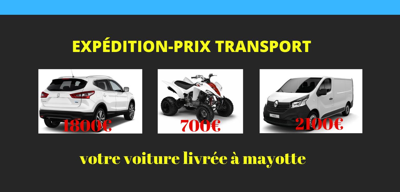 Transport de véhicule départ France-arrivée Mayotte